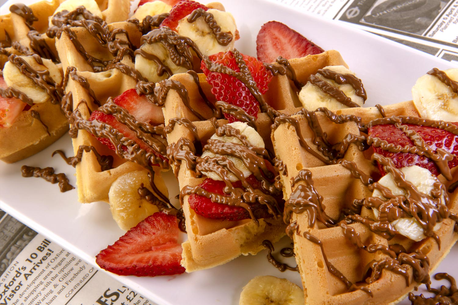 Nutella Waffle at Mitchell's Restaurant